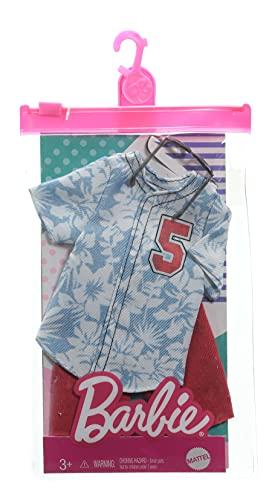 Barbie Fashion Pack – GRC75 – Ken Hawaii Fashion, set alla moda – Maglietta alla moda, pantaloncini rossi e occhiali da sole