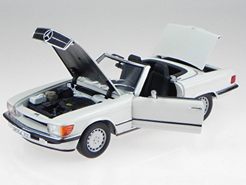 Mercedes 300 SL (R107), weiss, 1986, Modellauto, Fertigmodell, Norev 1:18