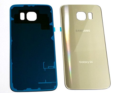 New OEM Battery Back Cover Glass Panel with Adhesive Preinstalled For Samsung Galaxy S6 G920A G920T G920P G920R G920V for All Carriers ~ GOLD (No IMEI)