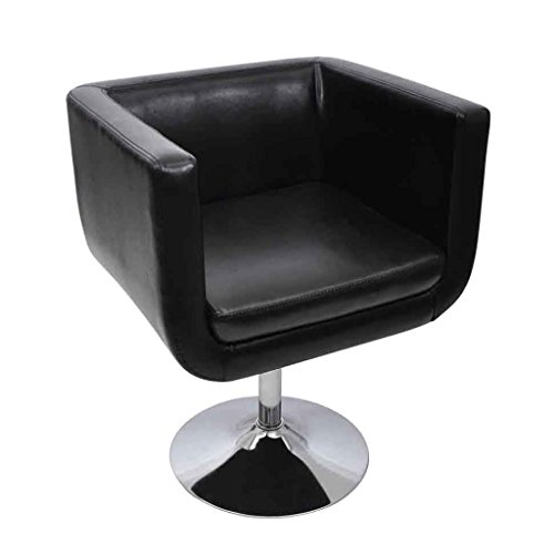 vidaXL Fauteuil Design Club Blanc Noir