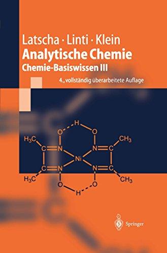 Analytische Chemie: Chemie—Basiswissen III (Springer-Lehrbuch)