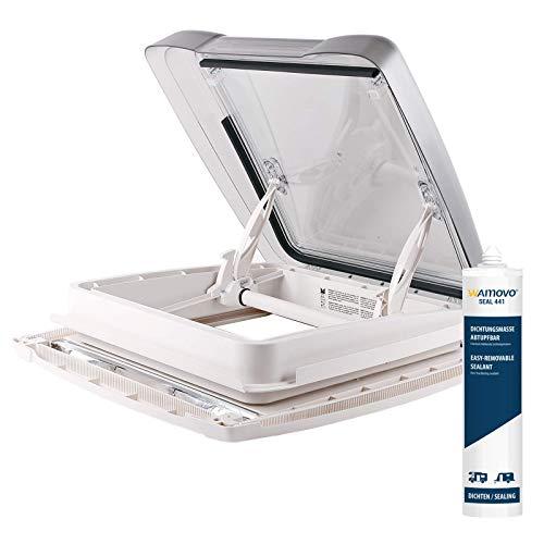 Ventana de techo, MPK Vision Star M Pro transparente 40x 40cm grosor de techo 25–60mm 48p + deklain cola selladora