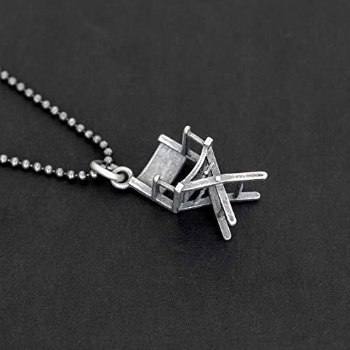 925 Sterling Silber Halskette für Männer Anhänger für Männer Halskette Direktoren Stuhl Anhänger Kette Halskette Filmemacher filmischen Schmuck Herren Geschenk
