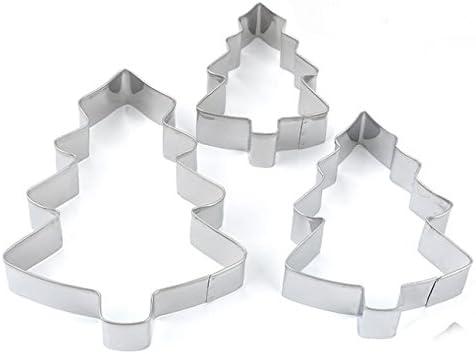 Lot de 18 emporte-pi/èces de No/ël en forme de maison en pain d/épices en acier inoxydable 3D