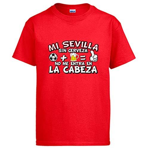 Camiseta Mi Sevilla sin Cerveza no me entra en la Cabeza