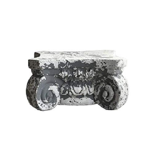 LXYZ Base per Vaso da Esposizione Pesante per Esterni da Giardino con Colonna scanalata in Pietra Romana, J + Altezza 15 cm