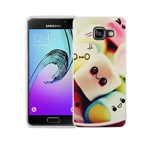 König Design Handy-Hülle kompatibel mit Samsung Galaxy A3 (2016) Silikon Case Hülle Sturzsichere Back-Cover Handyhülle - Marshmallows