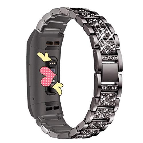 Pulsera Miss Fortan Band Correa Reloj, Correa de Diamante Pulseras de Repuesto Correa de Recambio Brazalete Extensibles para Reloj de Mujer
