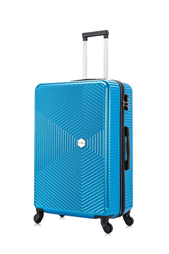 Flymax 29' Large Suitcases on 4 Wheels Lightweight Hard Shell Luggage Durable Check in Hold Luggage Built-in 3 Digit Combination Royal Blue