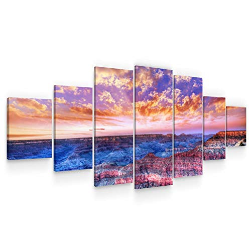 Startonight Huge Canvas Wall Art Grand Canyon View at Sunset - Large Framed Set of 7 40' x 95'