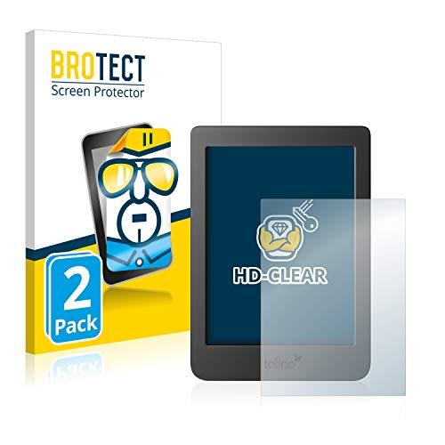 BROTECT 2x Schermbeschermer compatibel met Tolino Page 2 Screen protector transparant