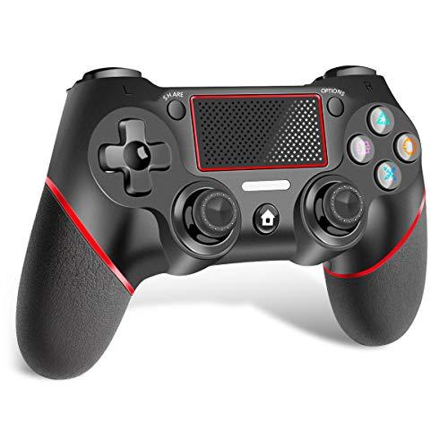 CHEREEKI Controller per PS4, PS4 Joystick Wireless Controller, di Gioco Wireless Dualshock a Sei-Assi Joystick con TouchPad e Jack Audio, Controller Wireless per PS4/PS4 Slim/PS4 PRO