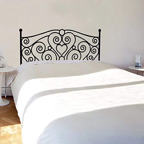 JXMK Schmiedeeisen Bett Kopf geschnitzt abnehmbare persönlichkeit Mode kreative wandaufkleber Schlafzimmer nachtwand 81x193 cm