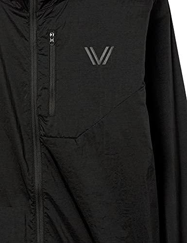 Amazon Brand - Peak Velocity Men's Emergency Full-Zip Water Resistant Athletic-Fit Jacket, Black, Large