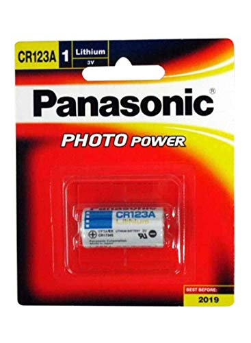 Panasonic CR-123A 3 Volt Lithium Batteries for Cameras Flashlights and Digital Flashes