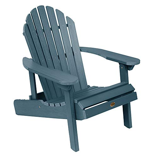 Highwood AD-CHL1-NBE Hamilton Made in the USA Adirondack Chair, Adult Size, Nantucket Blue
