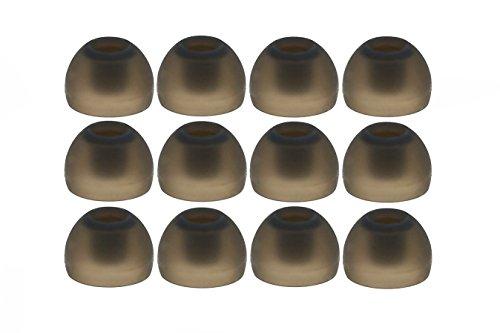 12pcs (TRS-B) Medium (M) Replacement Set Ear Adapters Ear Tips Earbuds for Sennheiser IE Series, CX Series, CXC Series, CXL Series, OCX Series, and MM Series In Ear Earphones / Headphones