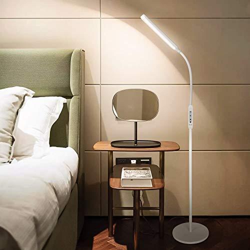 Albrillo Lampada da terra LED Dimmerabile - 8W Piantana Moderna da Terra Moderna, con Touch e Telecomando, 5 Temperature di Colore e 5 Luminosità Regolabile, Timer e Modalità Notte per Salotto
