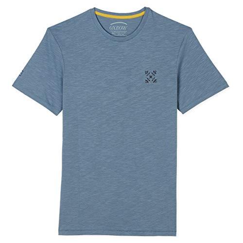 Oxbow N1TAMTA Tee shirt manches courtes graphique Homme, Bleu (Baltique), XL