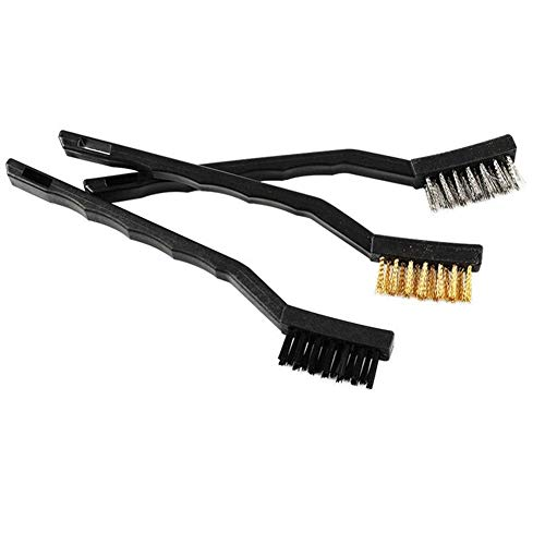 LONGJUAN-C 3D Printer Parts Copper Wire/Iron Wire/Nylon Wire Toothbrush Nozzle Heated Bed Cleaning Brush for 3D Printer Part 3D Printer