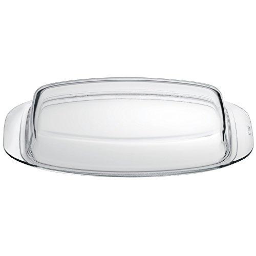 Silit Glasdeckel 32 x 21 x 15 cm, Deckel für Schlemmerkasserolle, hitzebeständiges Glas, spülmaschinengeeignet