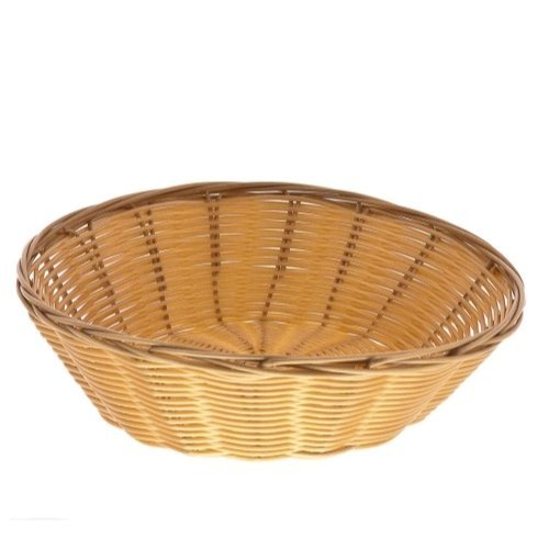 8-Inch Round Woven Bread Roll Baskets, Food Serving Baskets, Basket, Restaurant Quality, Polypropylene Material - Set of 2