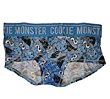 Sesame Street Cookie Monster Heads All Over Blue Lace Girlie Short Panties - 2XL