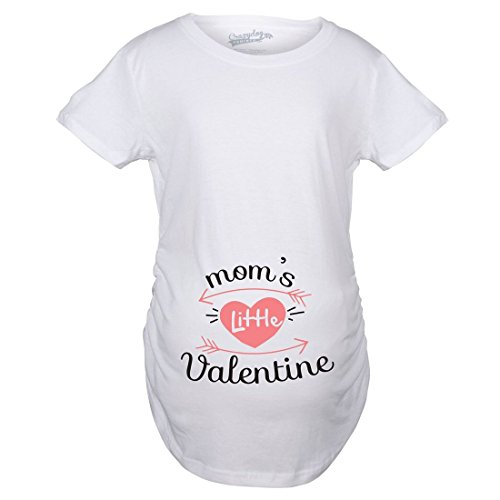Maternity Moms Little Valentines Day Cute Announcement Baby Pregnancy T Shirt...