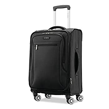 Samsonite Ascella X Softside Expandable Luggage with Spinner Wheels Black Carry-On 20-Inch