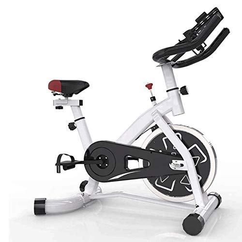 Hometrainer, Spinning Cycling Bike Stationair, verstelbare voet fitnessapparatuur, Upgrade vliegwiel van roestvrij staal, sluit u de hometrainer via de mobiele APP + Extension Cable