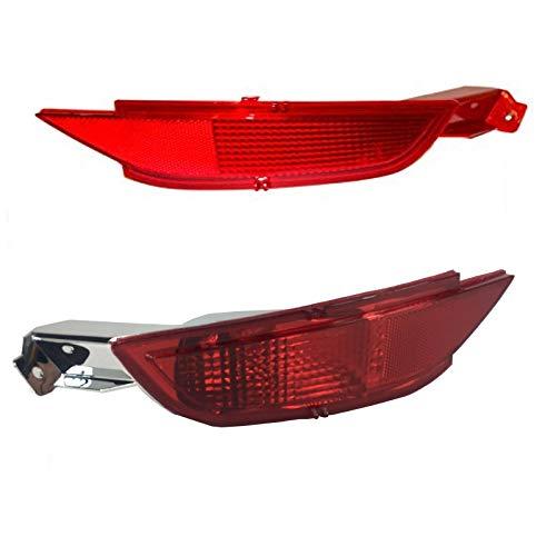 HLY_Autoparts Juego de Lentes de lámpara de luz antiniebla Reflector de Parachoques Trasero LHD Cars (rigt + Izquierda) para Ford Fiesta Mk7 2008 2009 2010 2011 2012