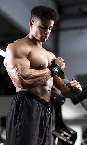 Handgelenkbandagen – für Kraftsport, Bodybuilding, Krafttraining, Crossfit & Fitness – für Damen und Herren – zum Schutz der Handgelenke beim Training – von Fitgriff - 2