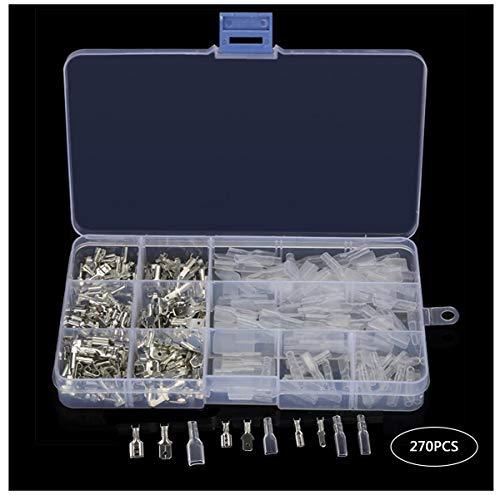 Biluer 270 Piezas 2,8 mm 4,8 mm 6,3 mm Kit Terminales Electricos...
