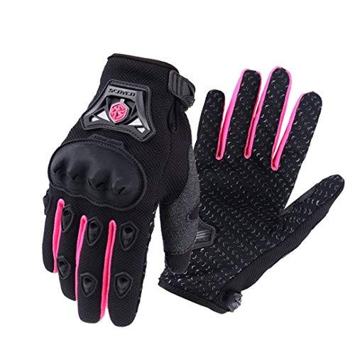 Guantes de Motocicleta Guantes de Mujer Guantes de Bicicleta eléctrica Guantes de Bicicleta Guantes de Ciclismo Mitten Black Pink L