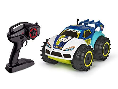 Dickie Toys 201119132 201119132-RC Amphy Rider - Vehículo Anfibio teledirigido (2 Canales, tracción en Las Cuatro Ruedas, Giro de 360 Grados, 20 cm), Color Azul, Blanco y Amarillo