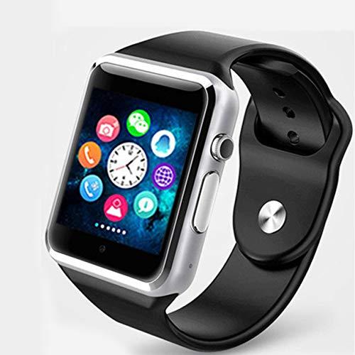smartwatch a1 Smartwatch professionale A1 Orologio da polso 2G SIM TF Telefono GSM impermeabile SIM di grande capacità SMS per Android per iPhone (colore: nero)