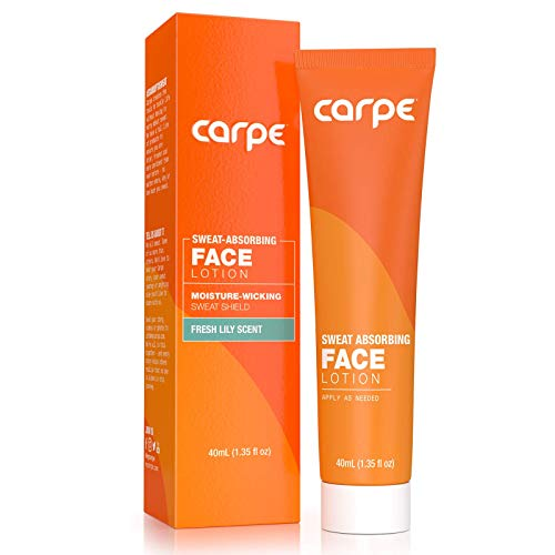 Carpe Sweat Absorbing Face - Helps Keep Your Face, Forehead, and Scalp Dry - Sweat Absorbing Gelled Lotion - Plus Oily Face Control - With Silica Microspheres and Jojoba Esters