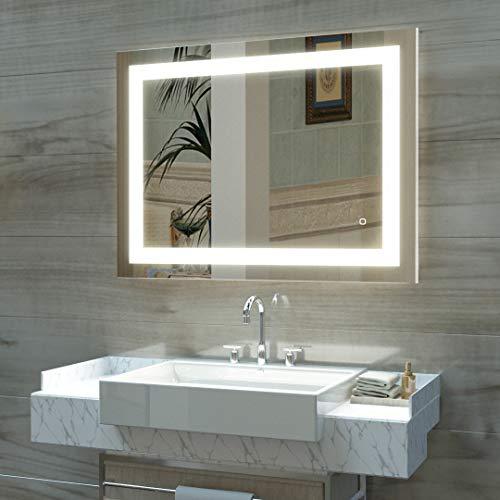 HAUSCHEN LED Lighted Fogless Wall-Mounted Makeup Mirror