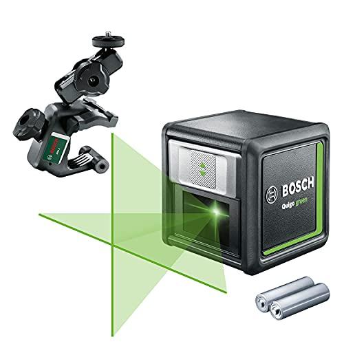 Bosch nivel láser autonivelante Quigo green (2 pilas, diodo láser verde, alcance: 12 metros, en caja)