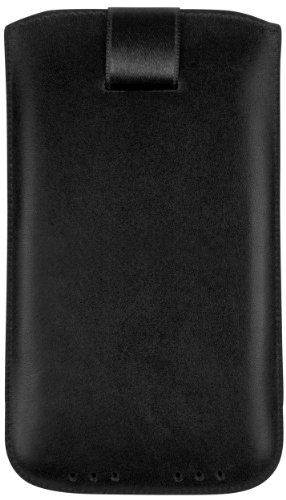 mumbi Echt Ledertasche kompatibel mit Sony Xperia Z Hülle Leder Tasche Case Wallet, schwarz
