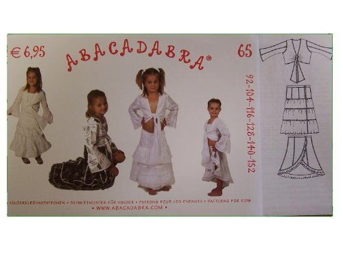 alles-meine.de GmbH Schnittmuster - Nr. 65 2 Röcke - Oberteil / Bluse / Bolero - MÄDCHEN Schnitt Kinder - Abacadabra - Kinderschnittmuster / Rockschnitt - nähen Kinderrock - Jäck..