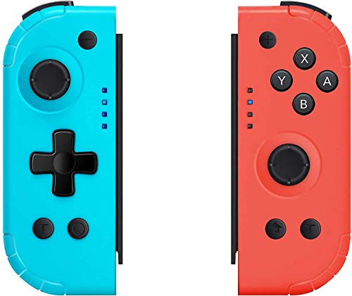 Wireless Joy Pad Controller for Nintendo Switch, Replacement Joy Con with Redesigned Ergonomic Hand Grip Comfortable Joycon Handheld Gamepad Remote (Wake-Up Version)