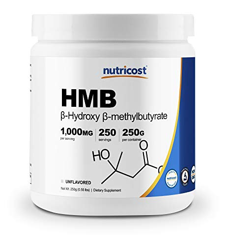 Nutricost HMB Powder (Beta-Hydroxy Beta-Methylbutyrate) 250 Grams - Gluten Free & Non-GMO