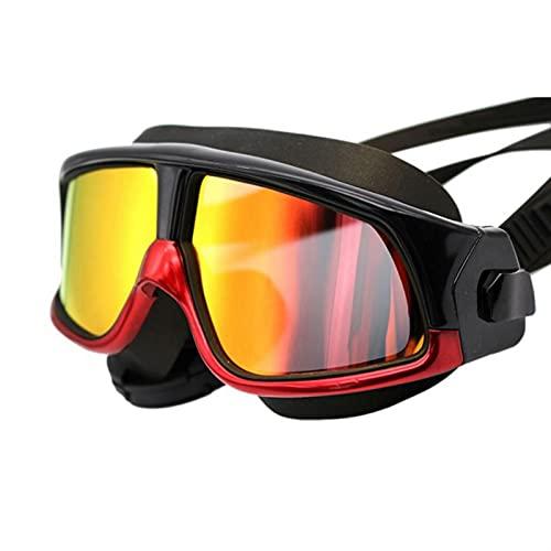 MIBHNJIAN Gafas de Natación Silicona Natación Gafas Gafas de natación Anti-Niebla UV Máscara de natación Cómodo Accesorios para Gafas Impermeables (Color : RB)