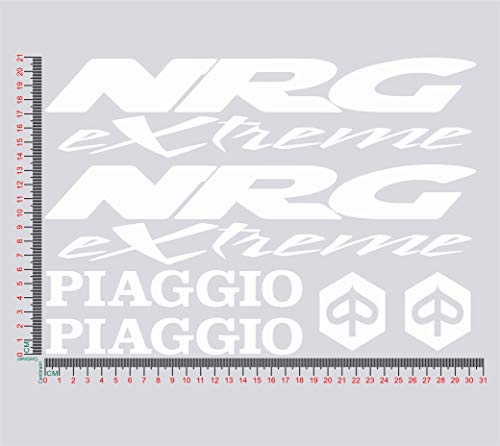 Stickers voor Piaggio NRG EXTREME motorfiets decal kleur 1309 010 BIANCO