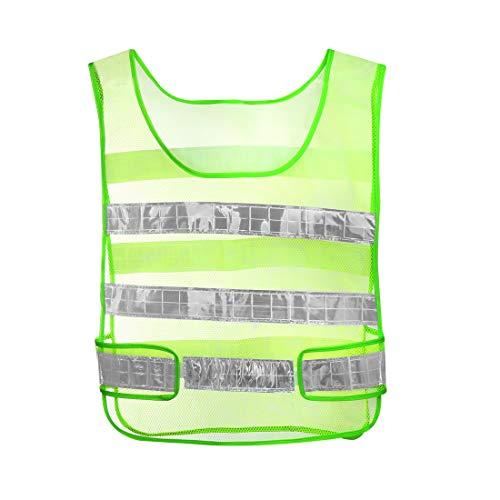 sourcing map Filet sécurité réfléchissant Design Vestes Jogging Jaune sécurité routière