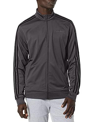 adidas Herren Essentials 3-Stripes Tricot Track Jacket Jacke, Grau/Schwarz, X-Large