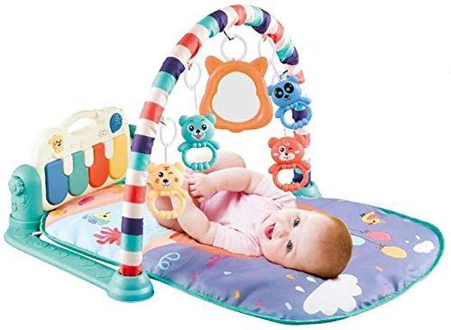 SCLL Jouer à l'arc pour Les bébés avec des Jouets Suspendus et de la Musique du Ventre de bébé Couverture d'activité pour bébé 0-36 Mois garçons et Filles, Stable, Vert, Vert