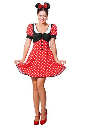 Karneval-Klamotten Minnie Mouse Kostüm Damen Minnie Maus-Kostüm Karneval Damen-Kostüm