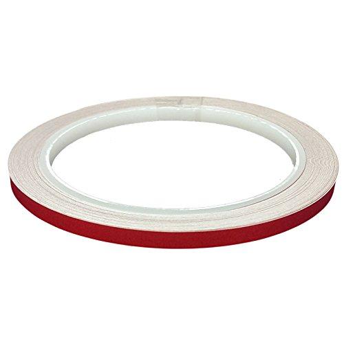 DonDo 3M 610C Klebeband, 5mm x 10m, rot, reflektierend, Reflexfolie mit Konturmarkierung